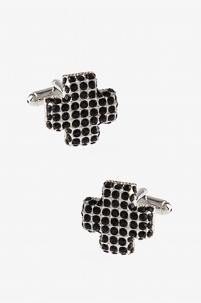Bejeweled Cross Cufflinks