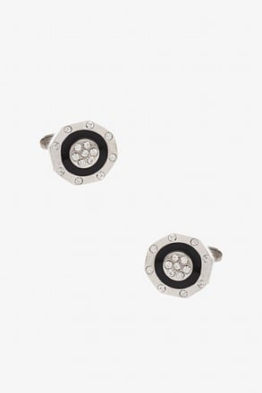 Bejeweled Octagon Cufflinks