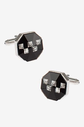 Bejeweled Peak Octagon Cufflinks