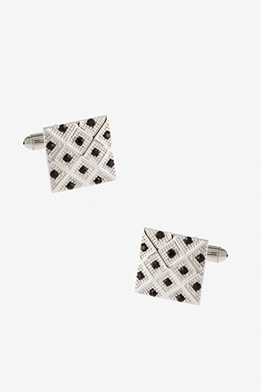 _Bejeweled Tile Black Cufflinks_