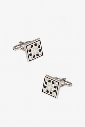 _Bejeweled Windowpane Cufflinks_