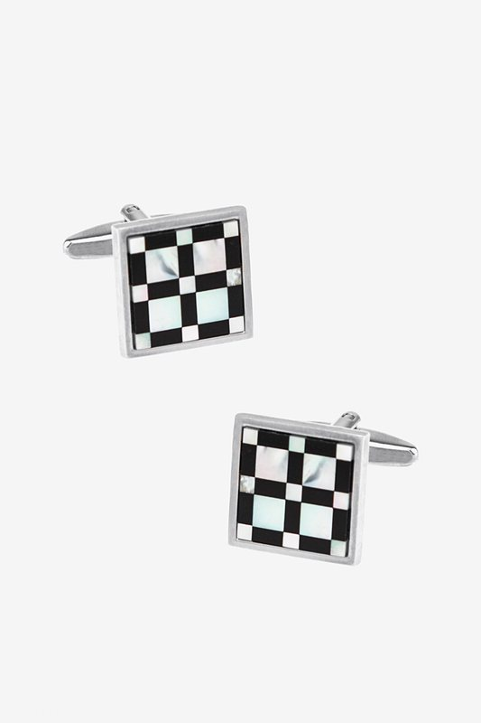 Big and Little Check Cufflinks