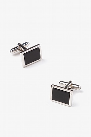 _Black Rectangle Cufflinks_
