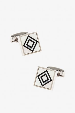 _Central Focus Black Cufflinks_
