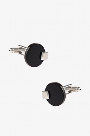 Clutched Solid Round Cufflinks