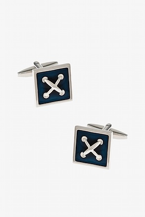_Crossed Stitch Cufflinks_