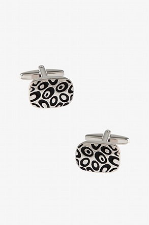 Decorated Solid Oval Cufflinks