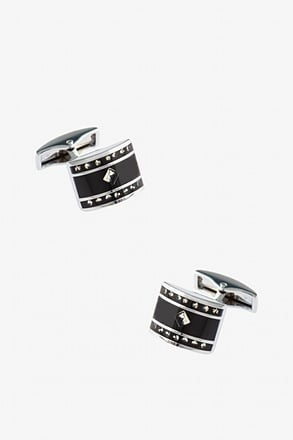 Dotted Rounded Square Cufflinks