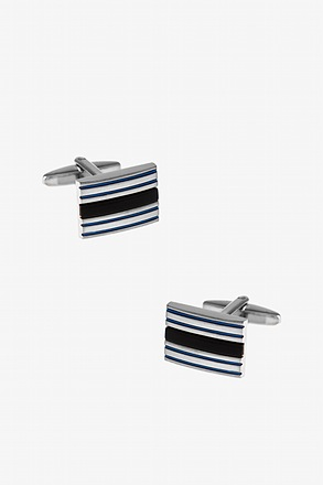 Duncan Horizontal Stripe Cufflinks