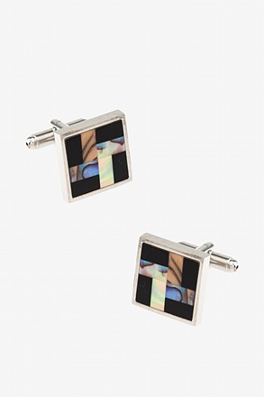 _Edison Square Black Cufflinks_
