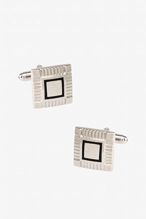 Etched Square Frame Cufflinks