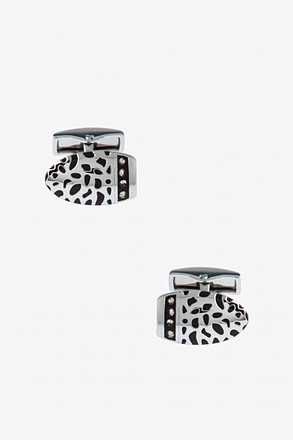 Fancy Cut Off Oval Cufflinks