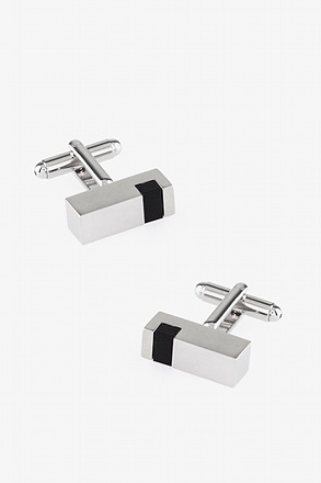 _Filled In Bar Cufflinks_