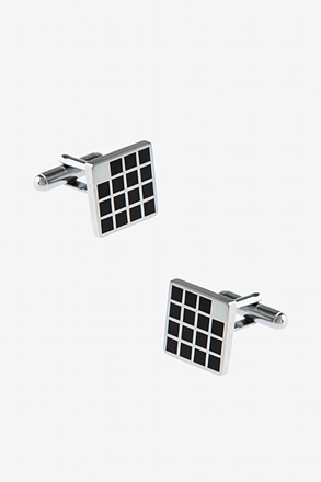 _Filled In Square Cufflinks_