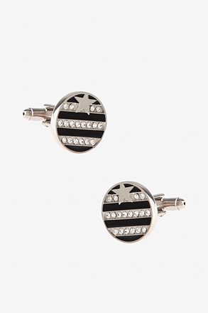 Flashy Stripes and Star Cufflinks