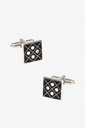 Four Points Square Black Cufflinks