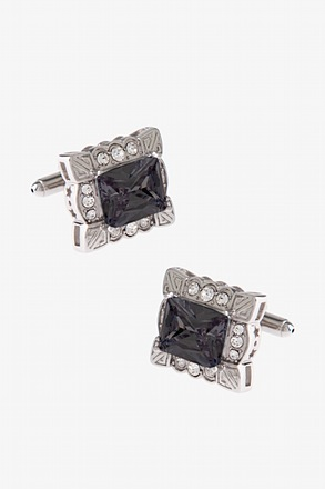 _Framework Jewel Black Cufflinks_