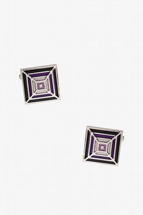 Groovy Square Pattern Cufflinks