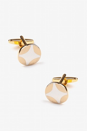 Guiding Light Round Cufflinks