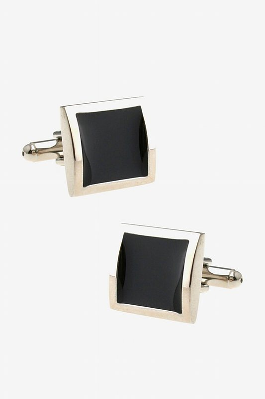 Minimalist Opaque Framed Black Cufflinks Photo (0)