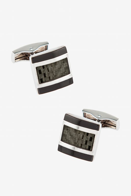 Modern Classic Square Black Cufflinks Photo (0)