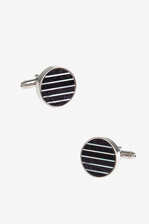 _Night Sky Round Cufflinks_