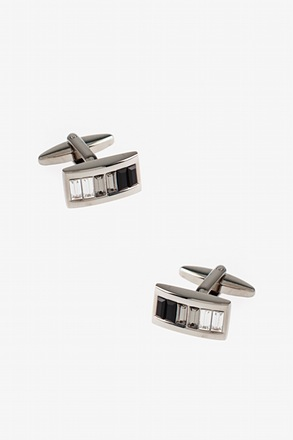 _Ombre Rectangle Black Cufflinks_