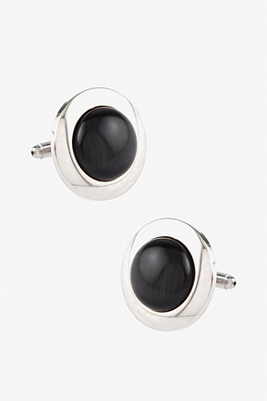 Oversized Cats Eye Cufflinks