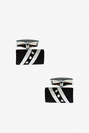 Parallel Glitzy Rectangle Cufflinks