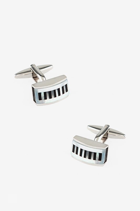Rectangular Pearly Stripes Cufflinks Photo (0)