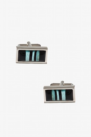 Rectangular Starry Striped Cufflinks