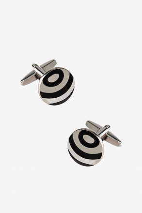 Round Broadening Pattern Cufflinks