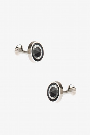 Round Peak Gem Cufflinks