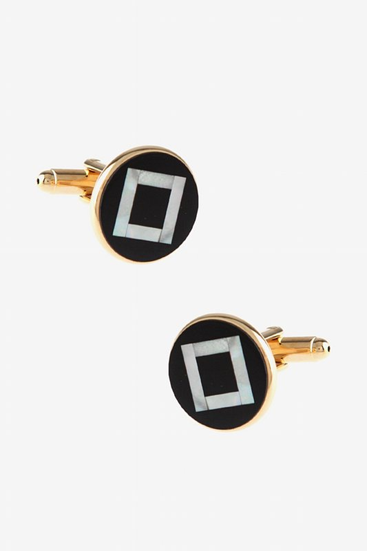 Round Pearly Pattern Cufflinks