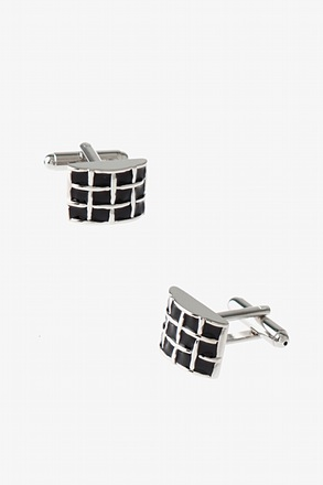 Rounded Rectangular Weave Cufflinks