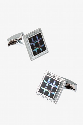 _Shimmering Casing Black Cufflinks_