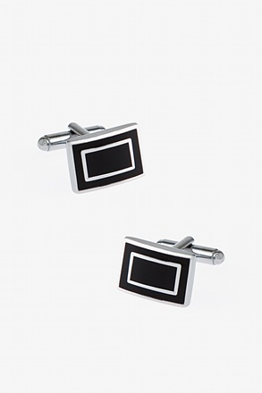 _Simple Framed Rectangle Cufflinks_