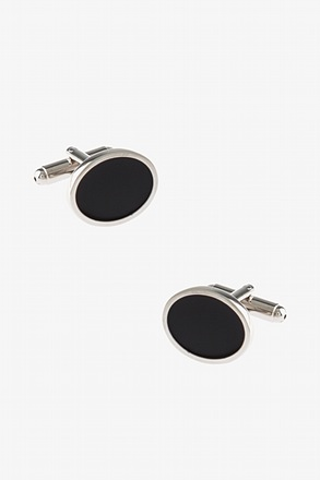 Simple Thin Oval Cufflinks