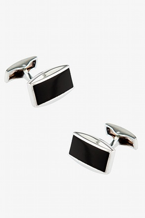 Slated Black Cufflinks