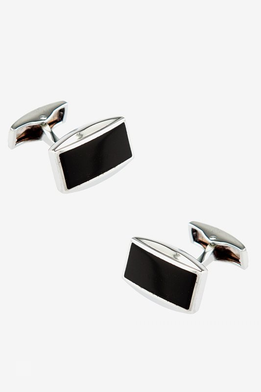 Slated Black Cufflinks Photo (0)