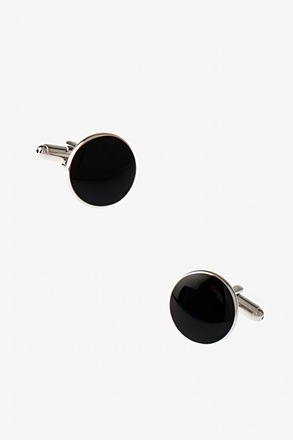 _Solid Round Cufflinks_