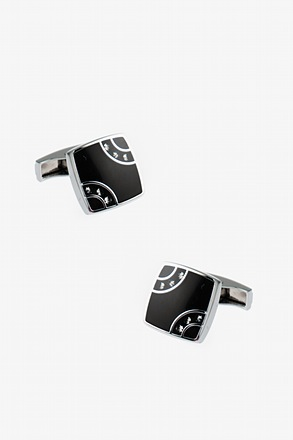 _Square Corner Gems Cufflinks_