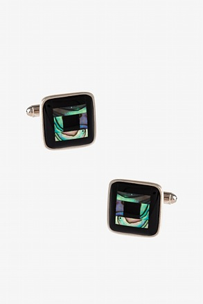 _Square Grant Black Cufflinks_