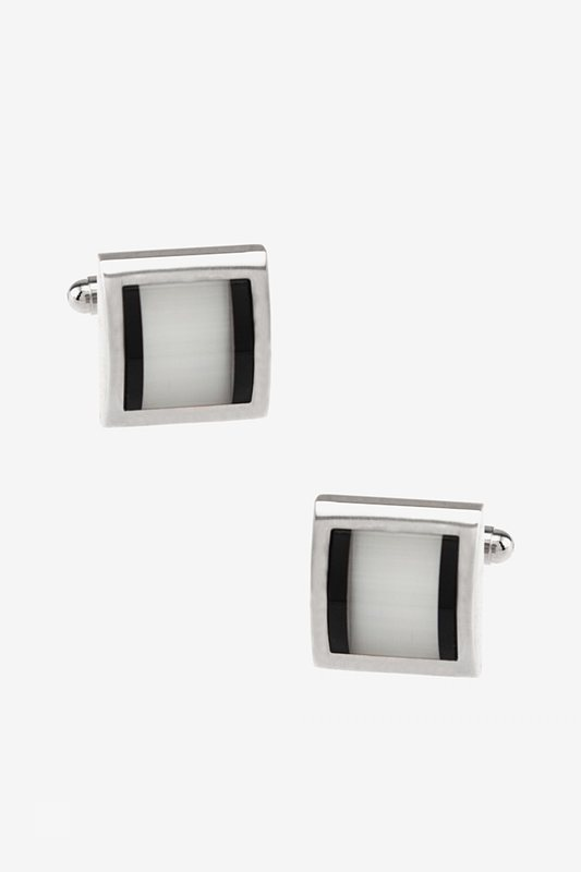 Stewart Rounded Square Black Cufflinks Photo (0)