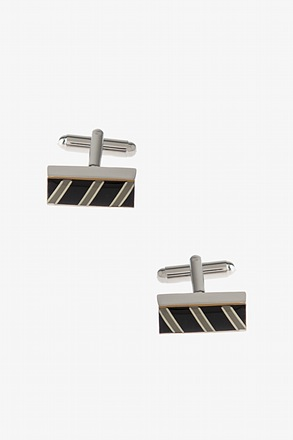 _Thick Patterned Bar Cufflinks_