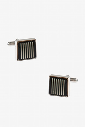 Thick Patterned Square Cufflinks