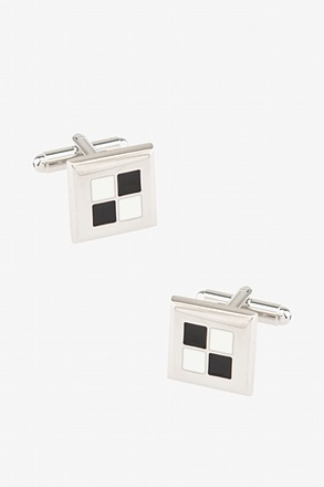 _Through the Window Black Cufflinks_