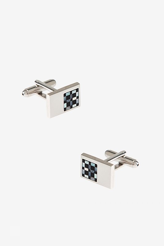 Touch of Check Cufflinks Photo (0)