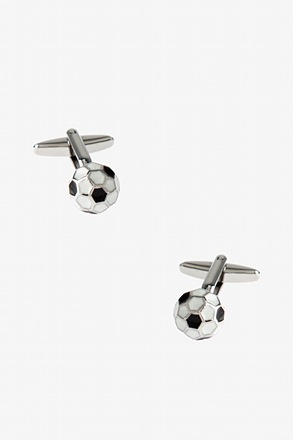_truncated icosahedron Black Cufflinks_