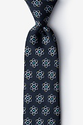 Black Microfiber Atomic Nucleus Extra Long Tie